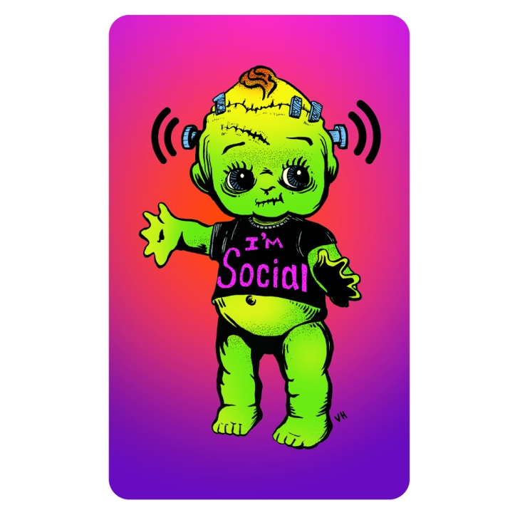Frankenstien Social Baby by CrowCrumbs